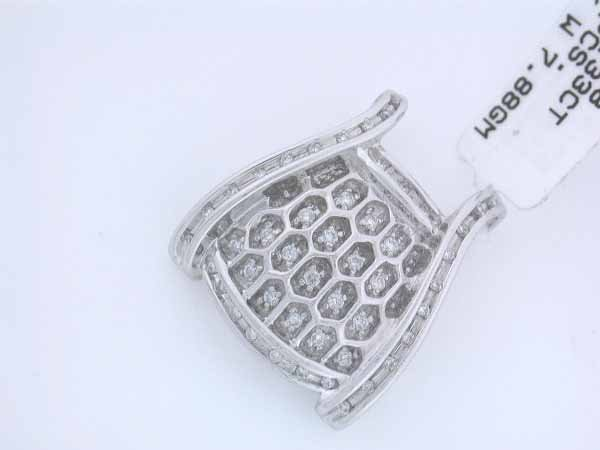 19: 14k White Gold Diamond Pendant