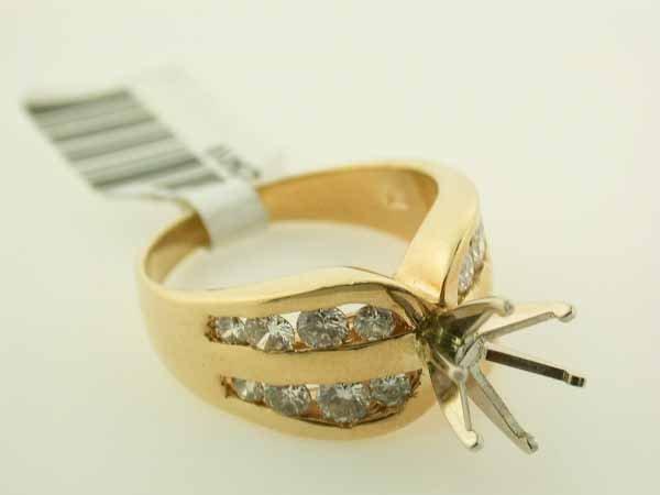 11: 14k Yellow Gold Diamond Ring (Semi-mount)