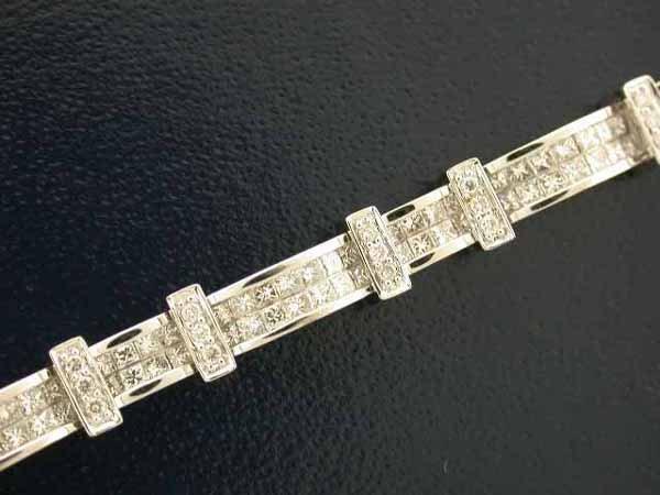 512: 14k White Gold Diamond Bracelet