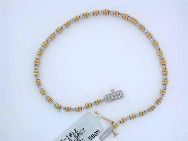 519: 14k Gold Diamond Bracelet