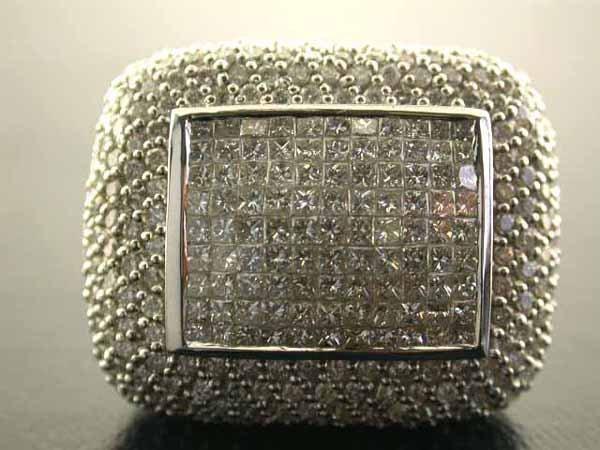 527: 14k White Gold Diamond Ring