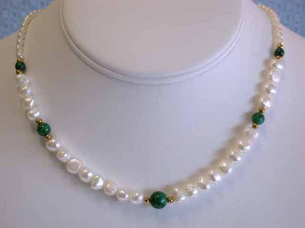 530: Pearl and Turquoise Necklace