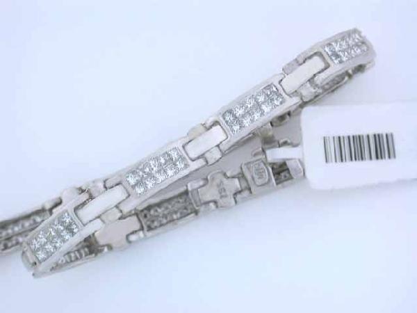 14k White Gold Bracelet - 4