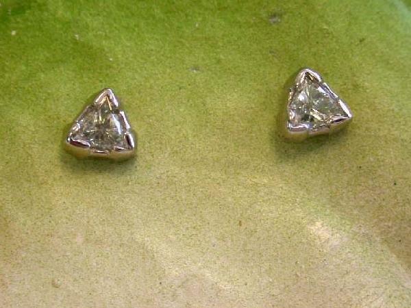 14k White Gold Diamond Stud Earrings (0.34 ct)