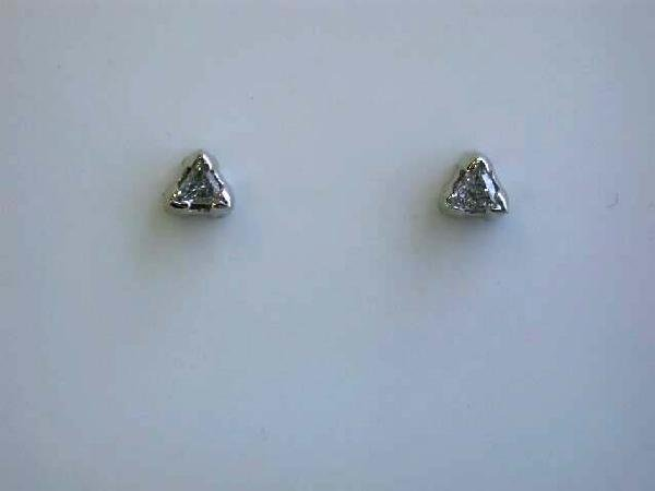 14k White Gold Diamond Stud Earrings (0.34 ct) - 3