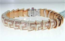 Roberto Coin 18K Rose Gold Enamel  Diamond Brace