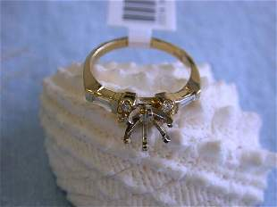 14ky Gold Ring with Diamonds 0.32 ct (Semi-Mount)