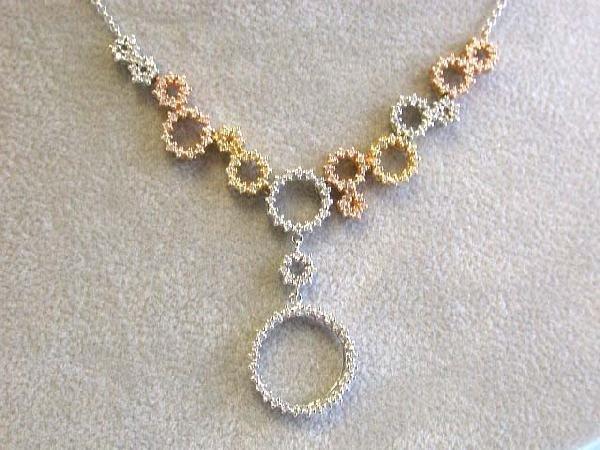 EFJ 18k Tri-color Diamond Necklace