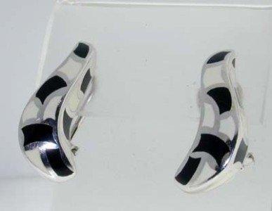 Menegatti Silver Enamel Earrings
