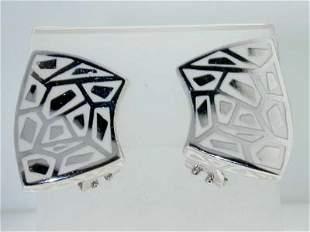 Menegatti Silver & Enameled Earrings