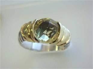David Yurman Ring with Lemon Citrine