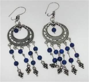 Silver Lapis Earrings