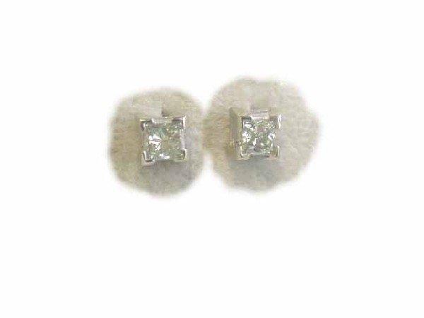 14k Gold Earrings w/ Diamonds (0.35 ct)