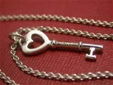 Tiffany Keys Heart Key Pendant