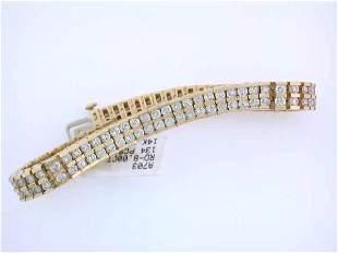 14k Yellow Gold Bracelet with Diamonds