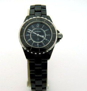 Chanel J12 Ladies DateJust Quartz Black Ceramic Wa