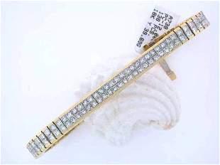 8k Yellow Gold Diamond Bracelet