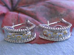 14k Gold Earrings with Diamonds