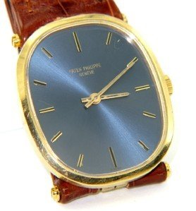 Patek Philippe Geneve Leather Strap Watch