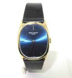 Patek Philippe Geneve Leather Strap Watch