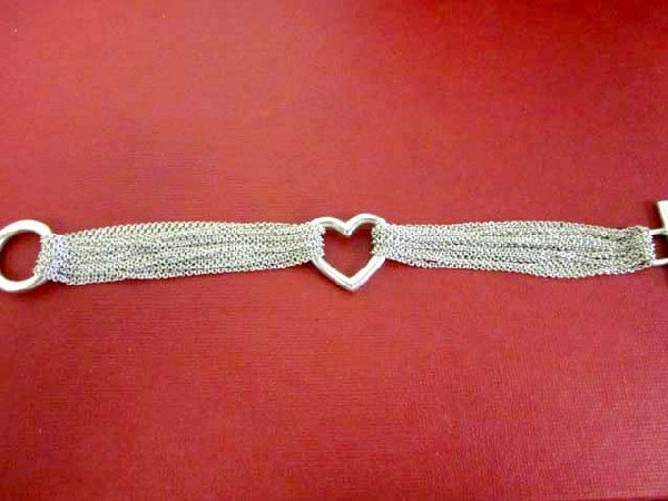Tiffany Heart Multi Chain Mesh Bracelet - 2