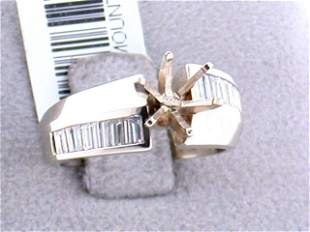 14k Yellow Gold Diamond Ring with Accents