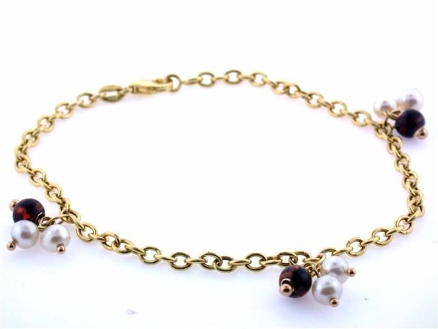 14k Gold Bracelet with Pearls