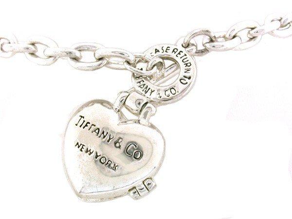 318: Tiffany Heart Locket and Necklace