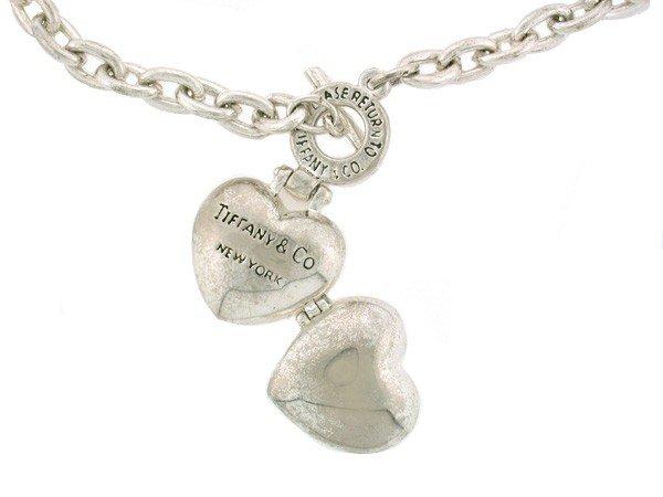 318: Tiffany Heart Locket and Necklace - 2