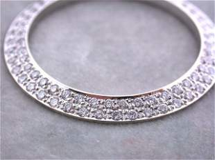 8k Gold Diamond Bezel for Men's DATED Rolex (1.91 cts)