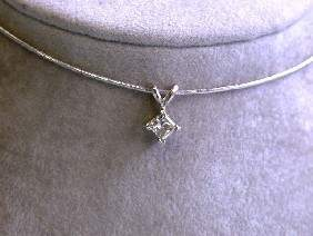 14k Gold Necklace with Diamond Pendant