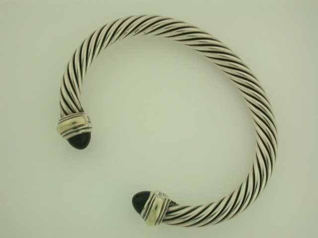 David Yurman Color Classic Onyx Cable Bracelet