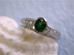 14k Gold Ring with Diamonds with Gemstone