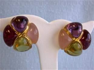 Laura Munder 18k Yellow Gold Earrings