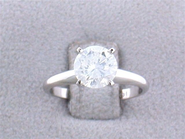 14k White Gold Solitaire Diamond Ring (1.67 carats)
