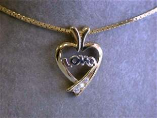 14k Necklace with HEART pendant