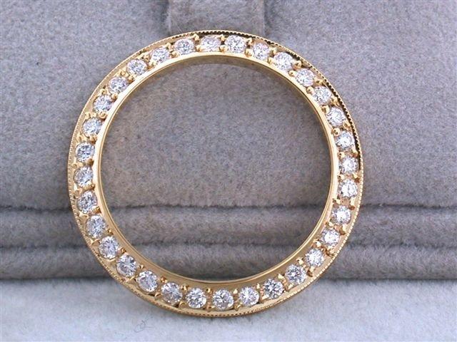 18k Diamond Bezel for Ladies' DATED Rolex (1.0 ct)