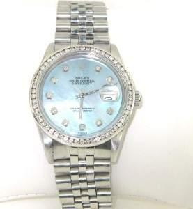 Rolex Steinless Steel Diamond Watch