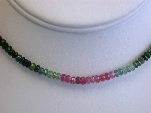 Tourmaline Necklace with 14ky Gold Clasp
