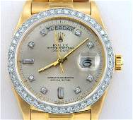 Rolex 18K Yellow Gold Diamond President Watch