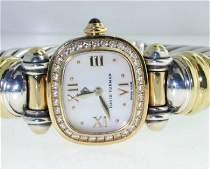 David Yurman Gold  Silver Diamond Sapphire Watch