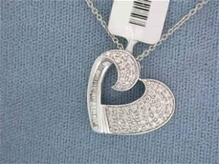 14k Gold Heart Pendant with Diamonds