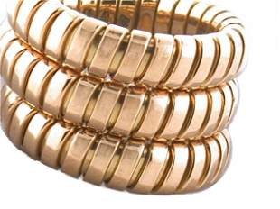 Bvlgari 18k Yellow Gold Expandable Ring