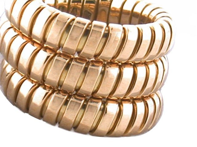 Bvlgari 18k Yellow Gold Expandable Ring