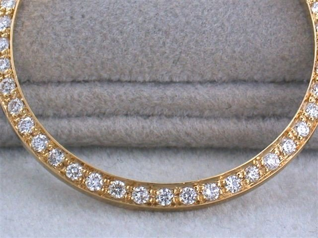 18k Gold Diamond Men's Bezel for DATED Rolex (1.0 ct)