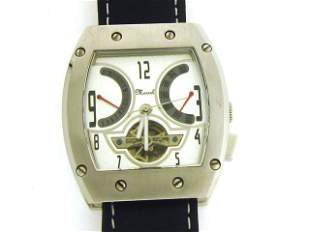 Marcel Drucker Men Stainless Steel Day and Date Au