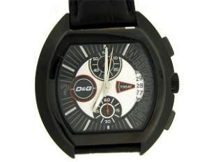 D&G Dolce & Gabbana Men's DW0214 High Security Black Le