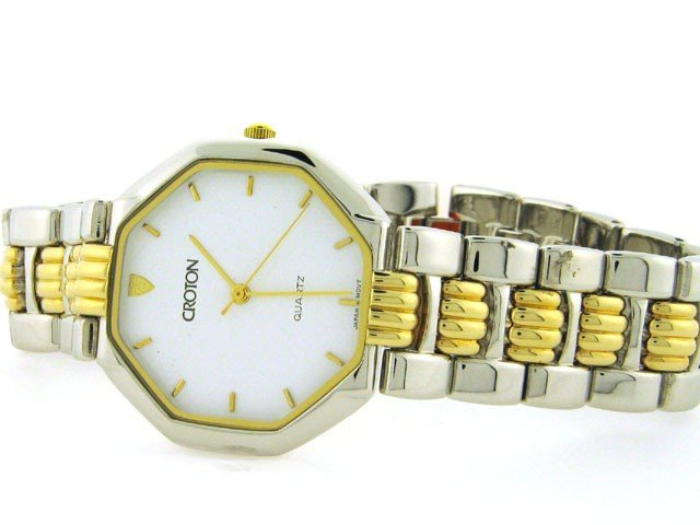 Croton Men's 23k Gold Plated Dress Watch
