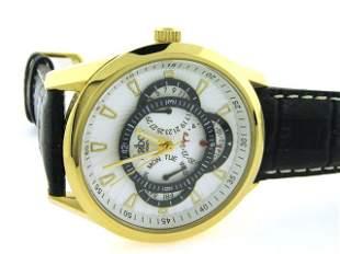 Akribos Leather Watch