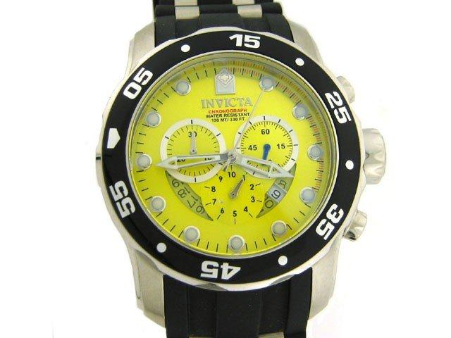 Invicta Men's 6978 Pro Diver Collection Chronograph Yel